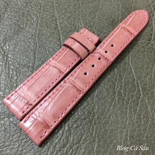 Dây da cá sấu Màu hồng