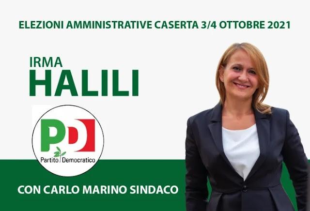 Irma Halili, la candidata albanese al consiglio comunale di Caserta