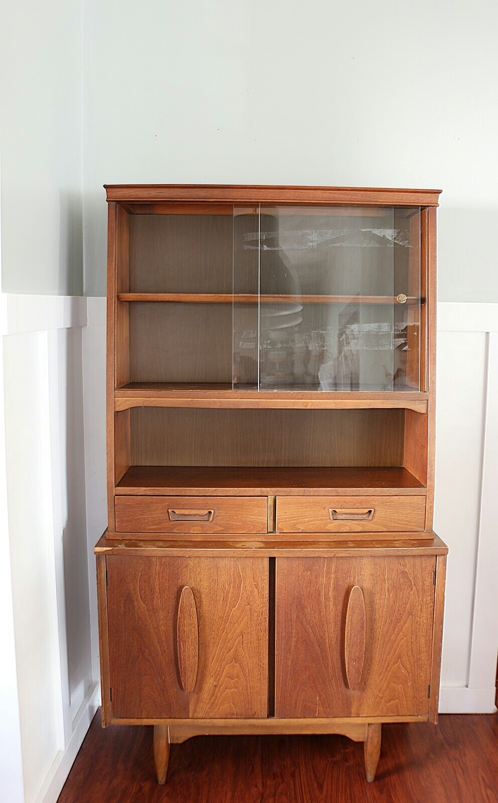 How To Style a Mid-century Modern Hutch - Made by Carli
