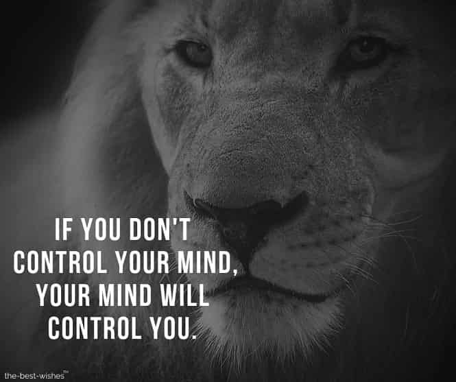 Motivational Quote about controlling your Mind Image