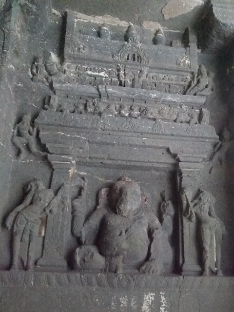 Cave 16, Ellora, Entrance, Ganesh