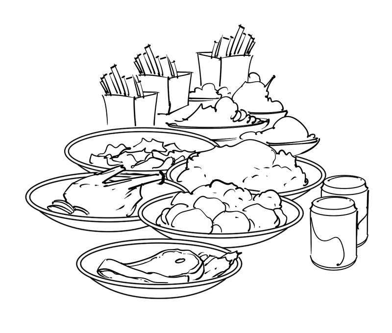 regular diet health and nurition book illustration