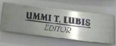 Plang Nama Untuk Editor