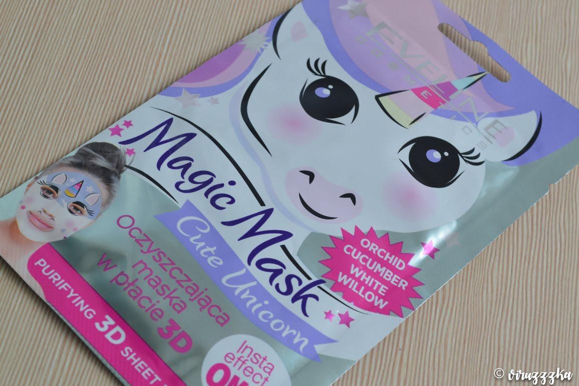 Eveline Cosmetics Magic Mask Cute Unicorn Purifying Sheet Mask Review Naprobu