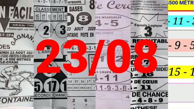 Pronostics quinté pmu Lundi Paris-Turf-100 % 23/08/2021