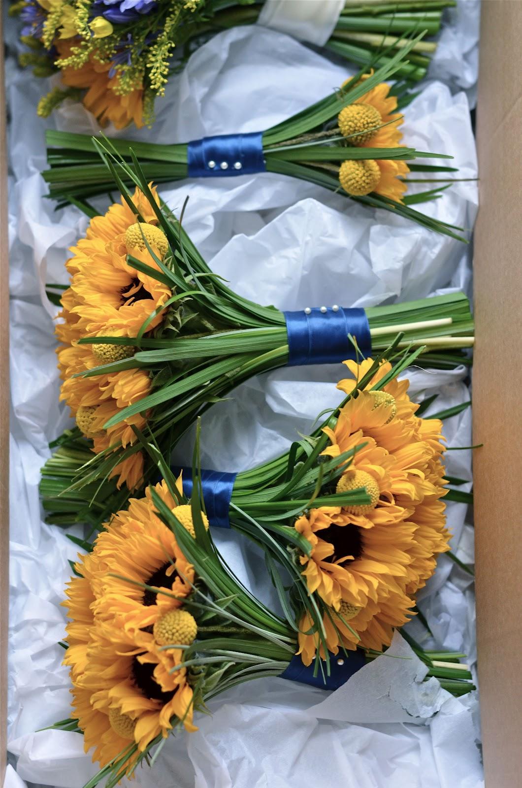 Sunflower Bouquet Wedding Fall