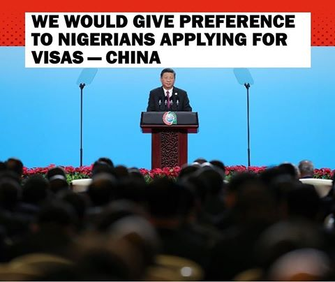 China Government Promise To Give Preference To Nigerians Applying For Visas