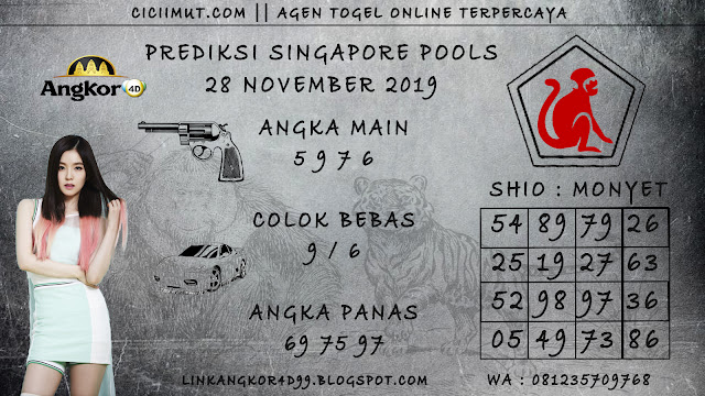 PREDIKSI SINGAPORE POOLS 28 NOVEMBER 2019