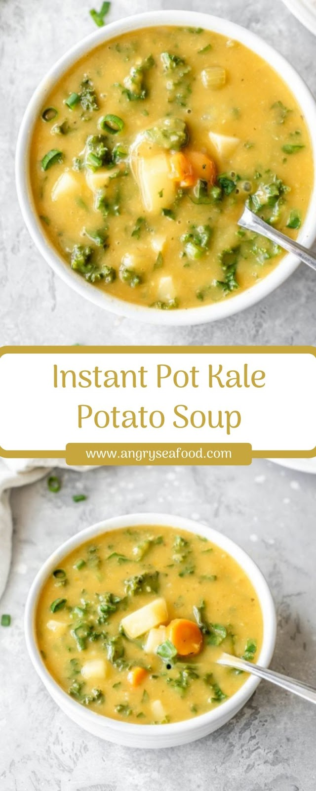 Instant Pot Kale Potato Soup