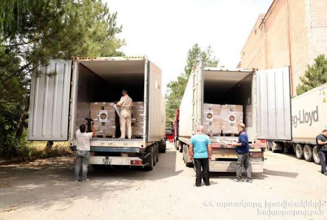 Armenia y Rusia envían 140 toneladas de ayuda humanitaria a Siria