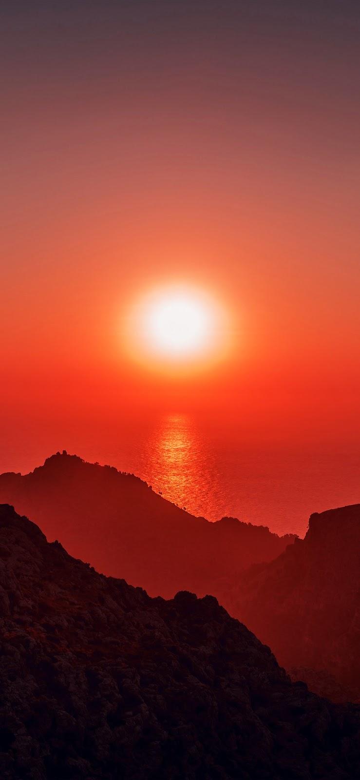 wallpaper iPhone, sfondi per iPhone, tramonto, sole, mare