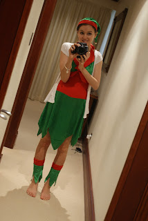 Kristy - Elf Costume - Christmas 2012