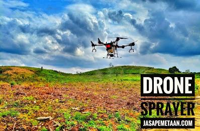 jasa survey pemetaan dengan drone spray