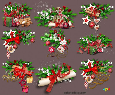 Seasons greetings clipart for Christmas