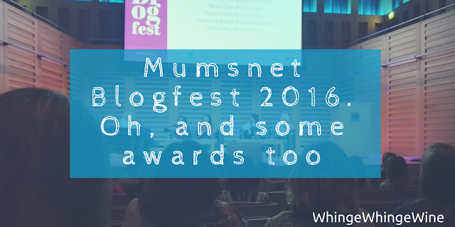 Mumsnet Blogfest 2016 - Oh, and some awards too - Best comic writer!