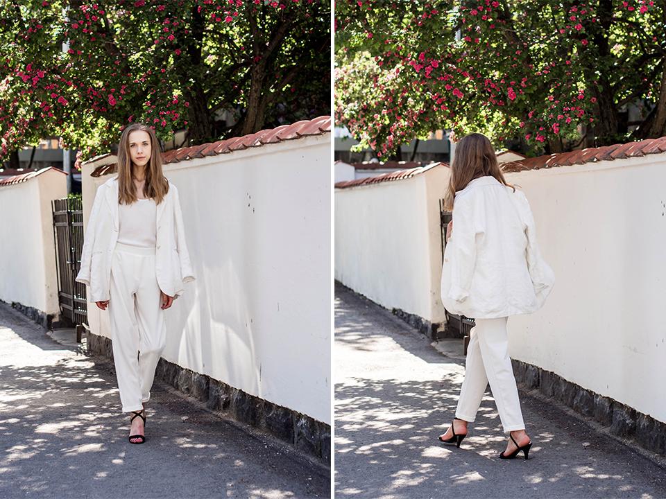 How to wear a white suit - Kuinka pukeutua kokovalkoiseen housupukuun
