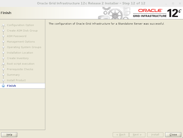 Oracle 12c grid infrastructure installation wizard screen 13