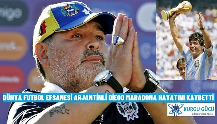 Dünya Futbol Efsanesi Arjantinli Diego Maradona Hayatını Kaybetti