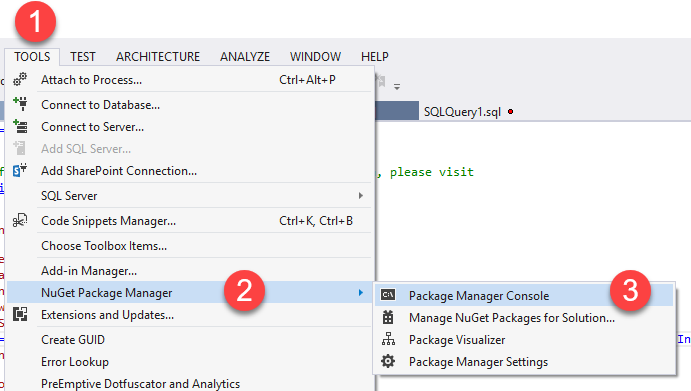 Package Manager console