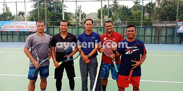 Tenis Pornas Korpri: Kalahkan Papua, Tim Putra Jatim Melenggang ke Semifinal