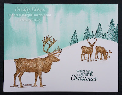 Heart's Delight Cards, MIF Inking Up the Holidays, Nature Sings, CAS, #simplestamping, Stampin' Up!