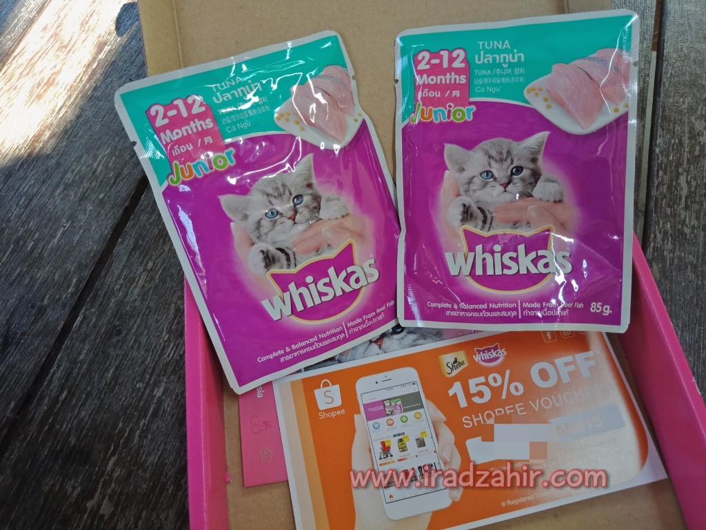 Makanan Kucing Kecil Basah Whiskas Junior Tuna Daftar Harga Isi 24 Pack Pouch 85gr Rasa Grilled Saba Dalam Kotak Ni Ada 2 Pek 85g Perisa