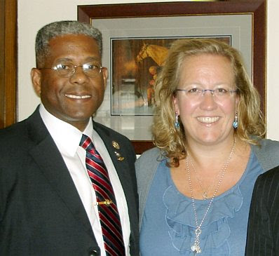 Col. Allen West and Elisabeth Sabaditsch-Wolff