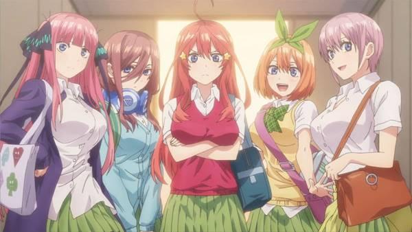 Top 6 Anime yang Mirip Gotoubun no Hanayome