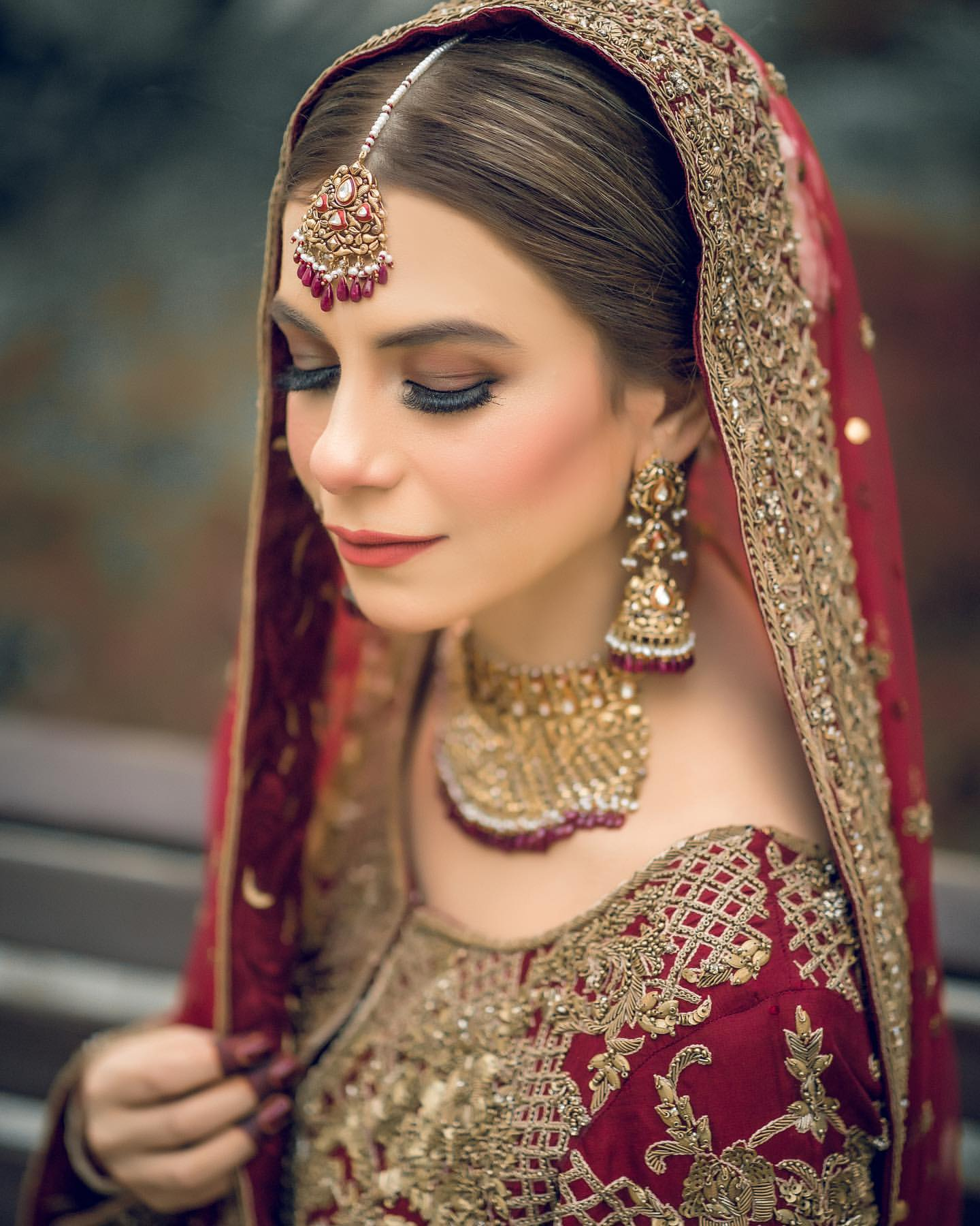 Bridal in Red Dress