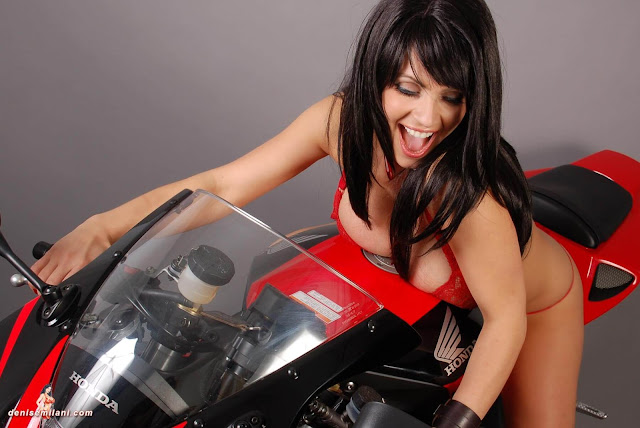 Denise-Milani-Bike-Photoshoot-in-red-hot-bikini-picture-23