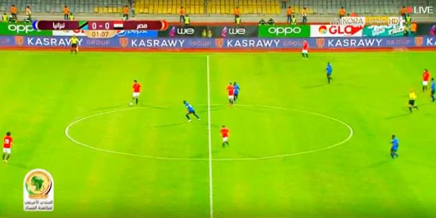 مصر وتنزانيا   ملخص مباراة مصر وتنزانيا المباراة الودية 1-0