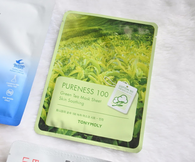 TONYMOLY Pureness 100 Green Tea Mask Sheet - Skin Soothing