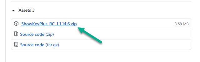 scaricare il file zip di showkeyplus