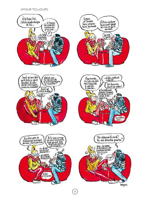 page de LES TEMPS SONT FLOUS de Terreur graphique chez Delcourt