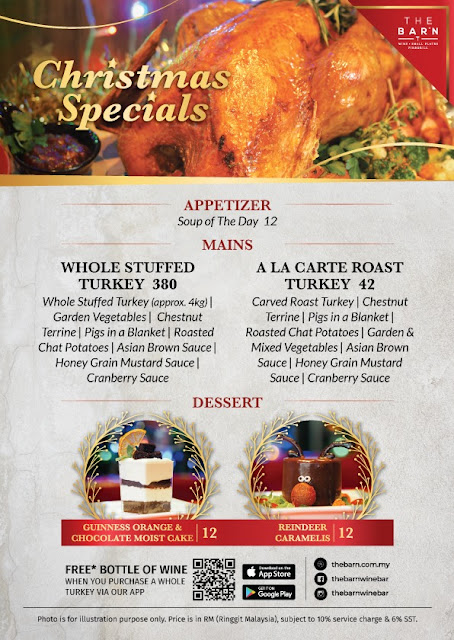 The Barn Seasonal Christmas Turkey Menu and Delicious Meat Platters