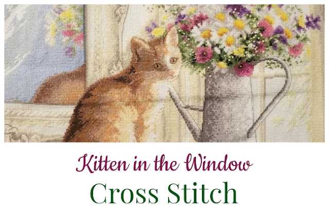 Kitten in the Window Cross Stitch