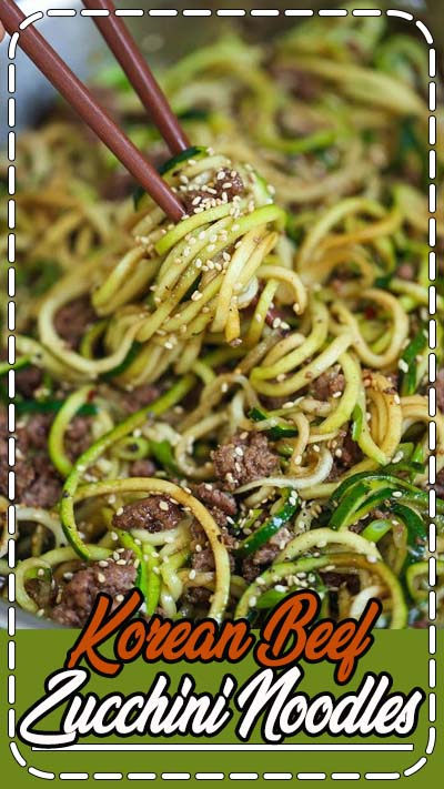 LOW CARB Korean beef bowls except with zoodles! It is so much healthier and lighter without any of the carb guilt!!! These zucchini noodles came just in time. Because as you guys know, I am currently on a pasta hiatus since my Italy trip. I also really need to lay off the carbs.