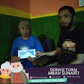 Mbah Sunarti : Donasi Tunai