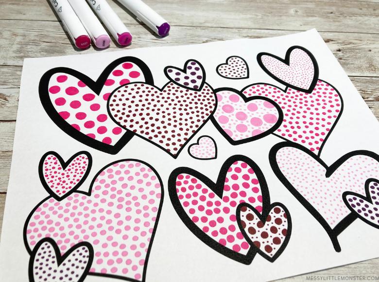 Pointillism heart art