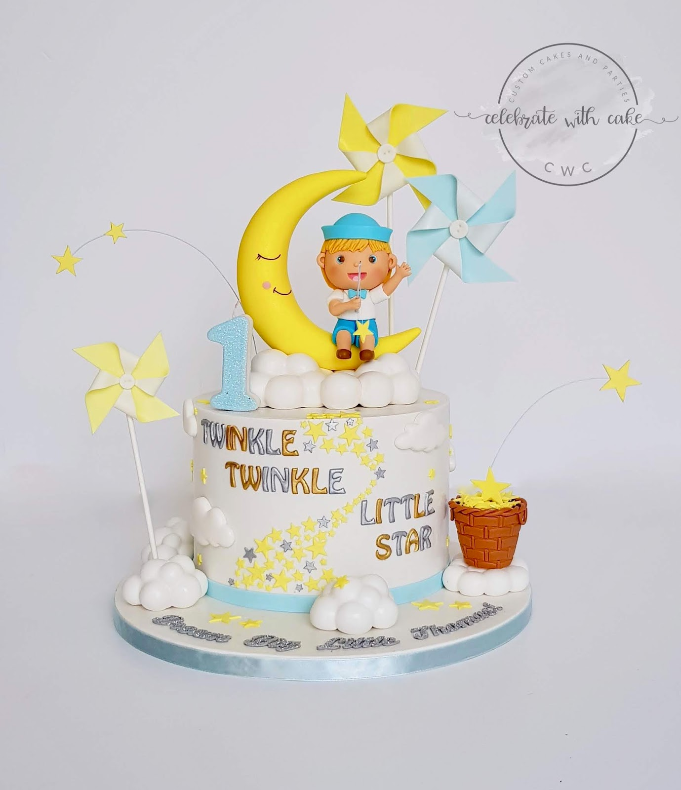 Prime Celebrate With Cake Boy Catching Stars In Night Sky 1St Birthday Personalised Birthday Cards Veneteletsinfo