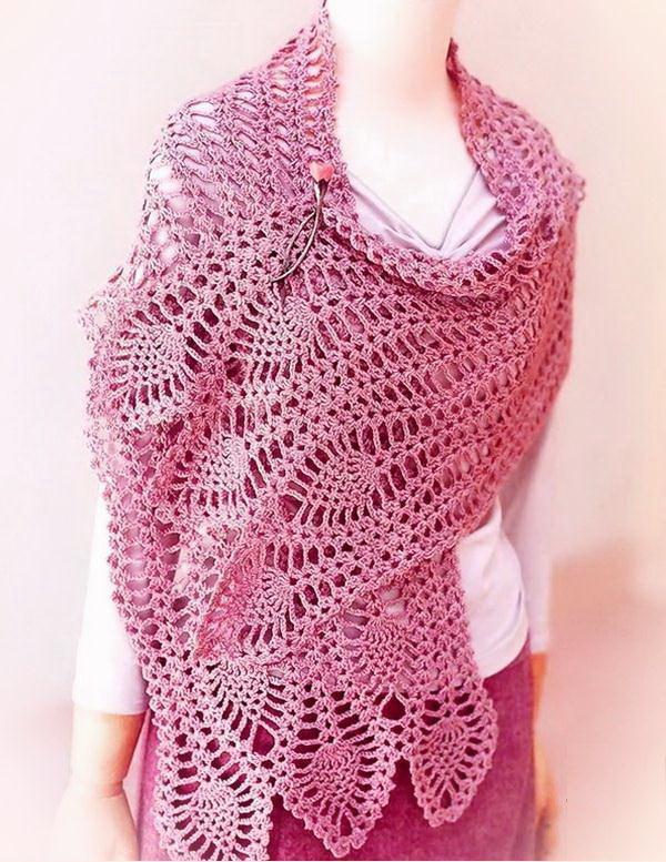 Easy Crochet Lace Scarf Pattern