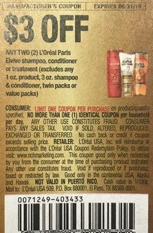 """$3/2 L'Oreal Elvie Coupon from """"RMN"""" insert week of 8/18/19."""