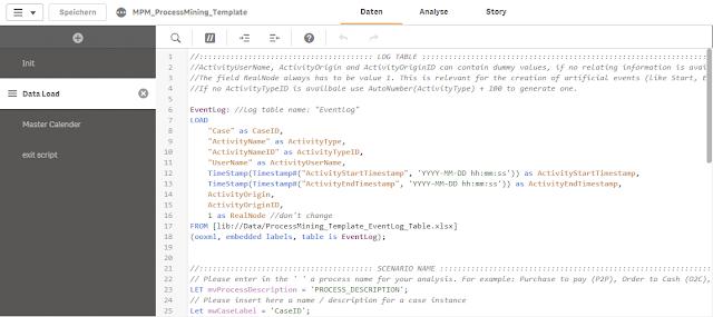 Process Mining Qlik Template Script