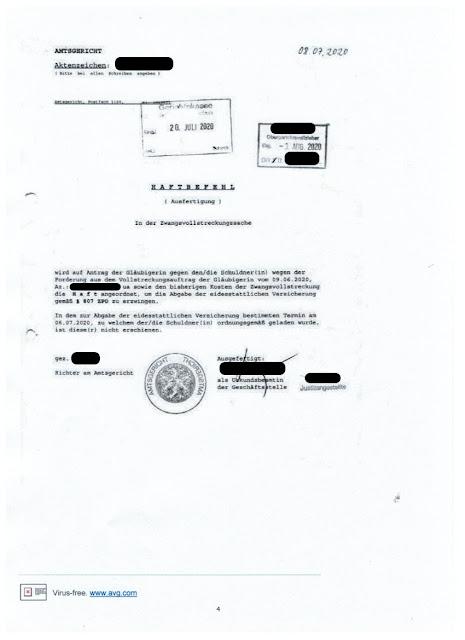 """Scan """"Haftbefehl Bergner und Kollegen"""" / Sep 2021"""