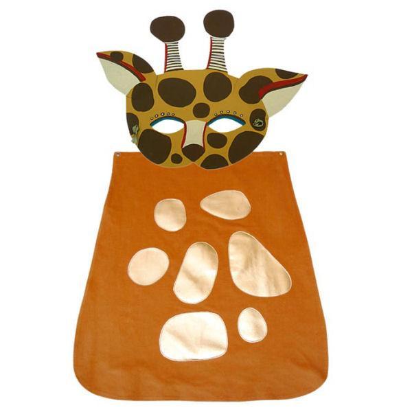 disfraz de jirafa con capa
