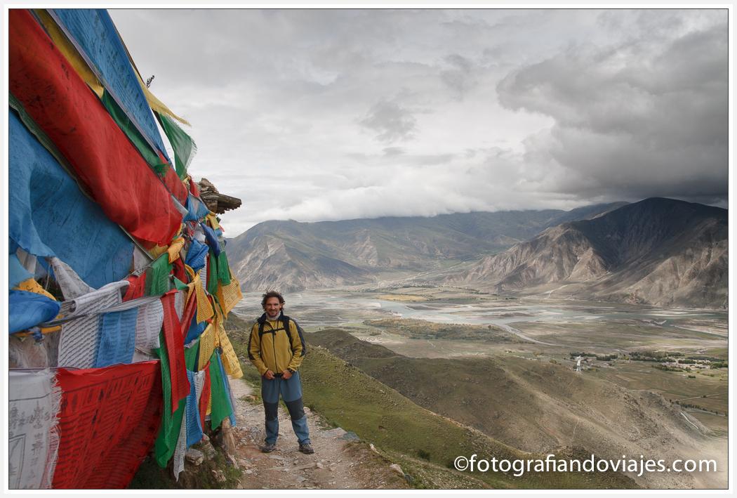 Kora del monasterio Ganden, cerca de Lhasa, Tibet