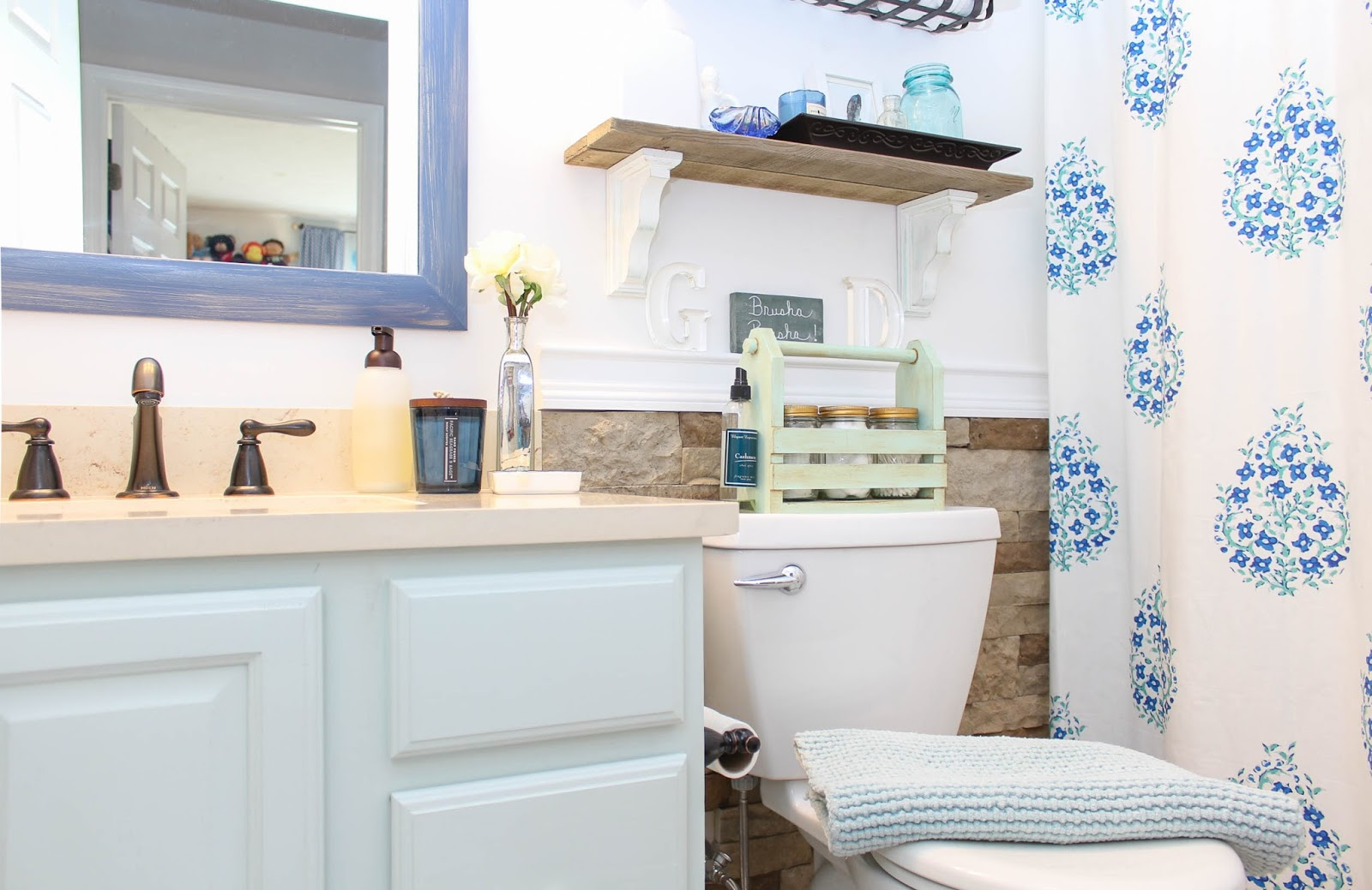 kids guest bathroom makeover