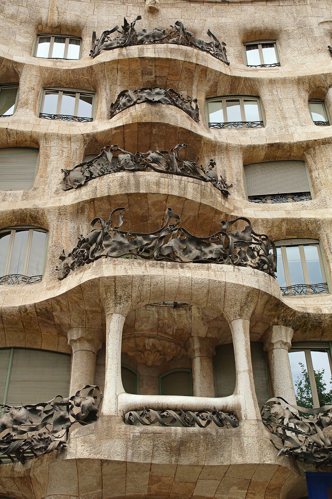 La Pedrera or Casa Mila by Gaudi: Balconies and Ironwork