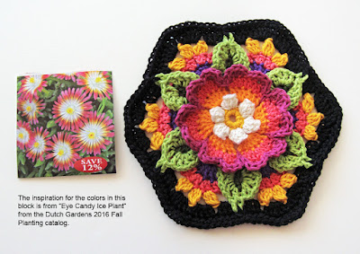 Robin Atkins, Frida's Flowers, colors inspired by flower catalog images