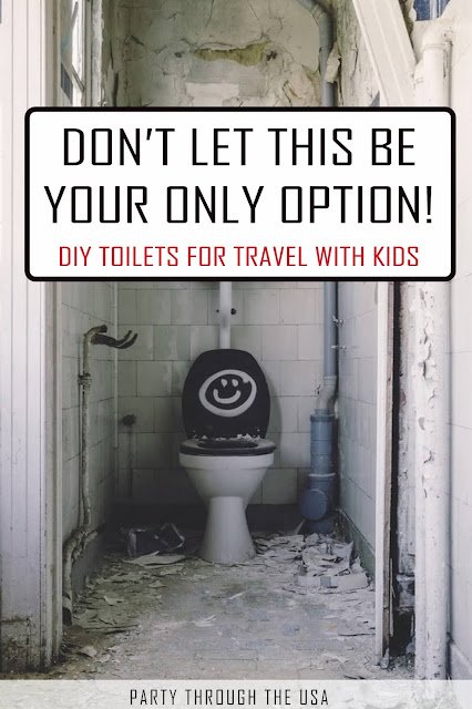 Travel potty options for family road trips to avoid bathroom emergencies.  Great for special needs kids too!